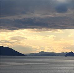 瀬戸内海を一望できる高台からの美しい眺望