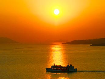 瀬戸内海を一望できる 高台からの美しい眺望