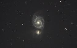 りょうけん座子持ち銀河M51