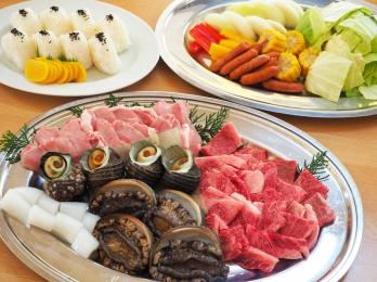 BBQ★オリーブ牛&アワビコース