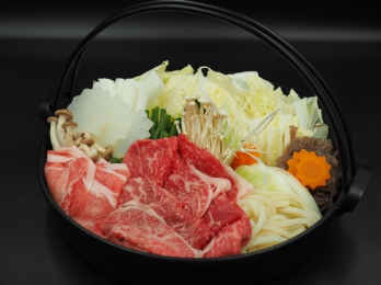 香川県産オリーブ牛のすき焼き